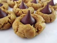 Chewy Peanut Butter Hershey's Kiss Blossoms